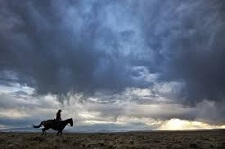 horseman with big sky